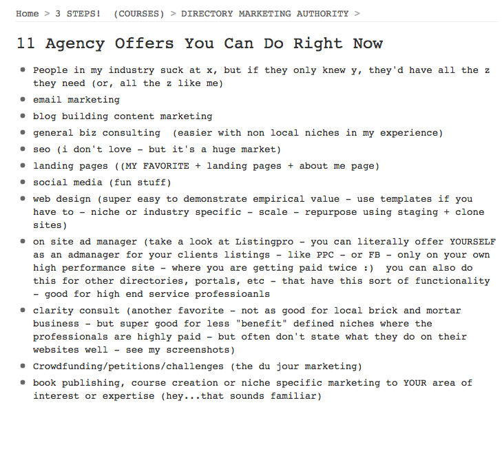 online agency blueprint